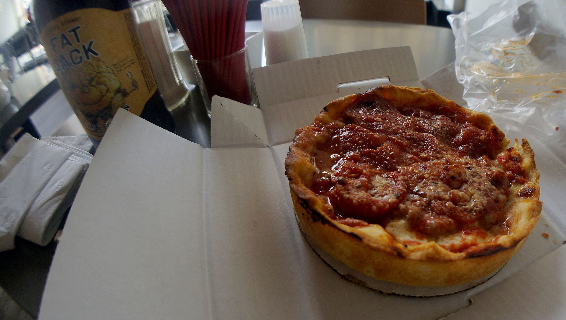 A Single Serving Deep Dish Pizza From Lou Malnati S