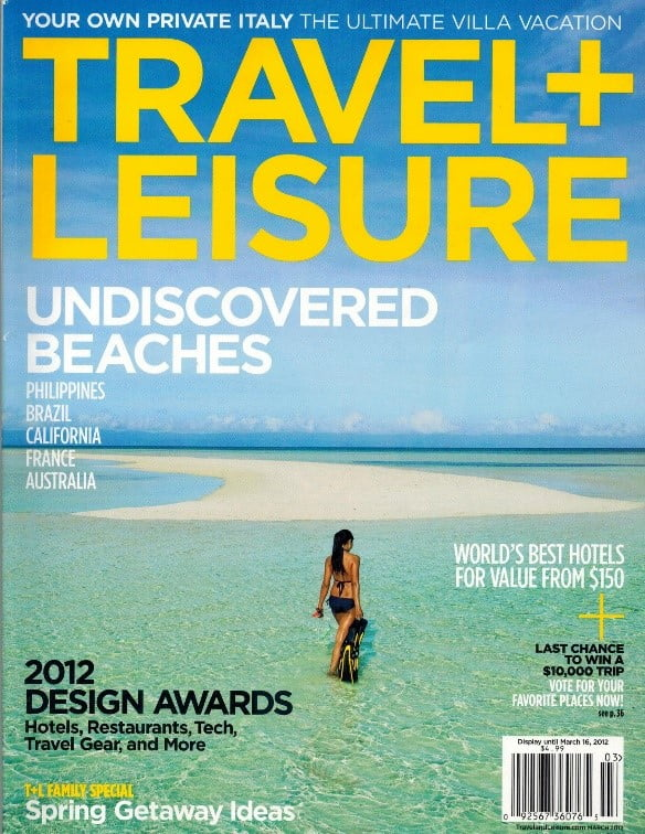 travel leisure magazine cover beach