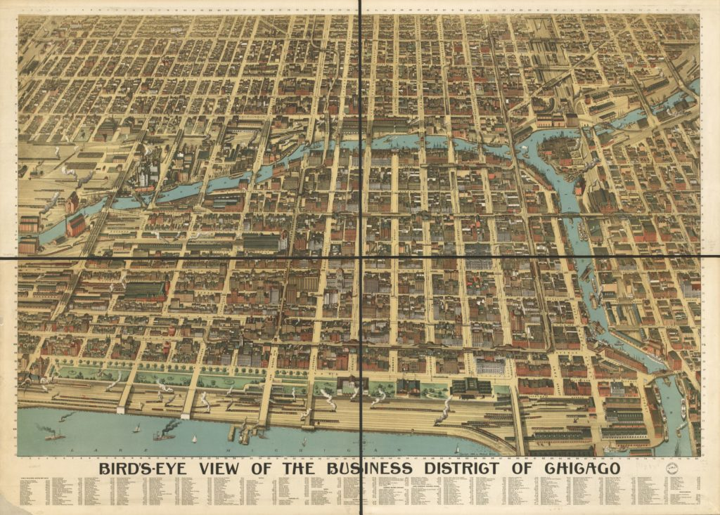 chicago business district street map
