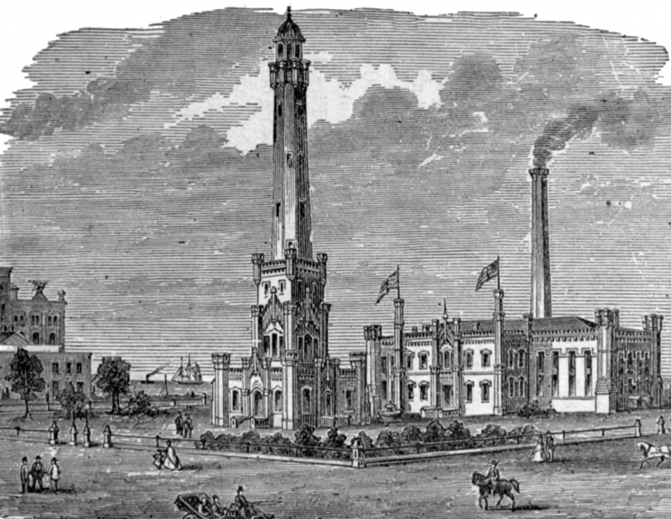 chicago water tower 1886