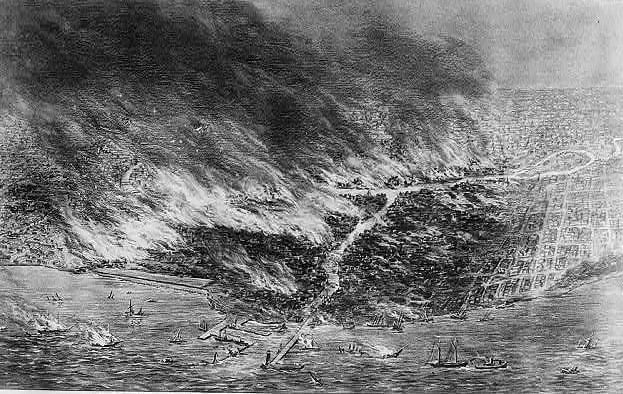 1871 chicago fire aerial