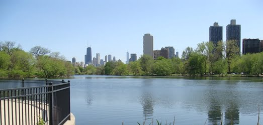 Overlook of North Pond Sanctuary/picture from City of Chicago