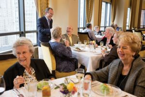 Residents dine at The Clare. Photo from Solutions Advisors.