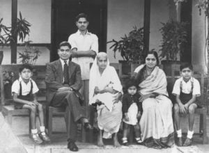 Dr. Sunil Shabde as a child with his family in India.